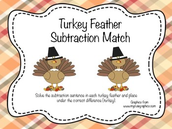 Turkey Feather Subtraction Match