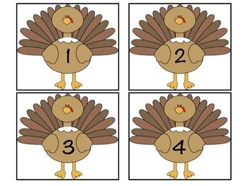 Turkey Feather Subtraction Match