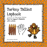Turkey Feather Tallies Lapbook & Math Center Word Wall Signs