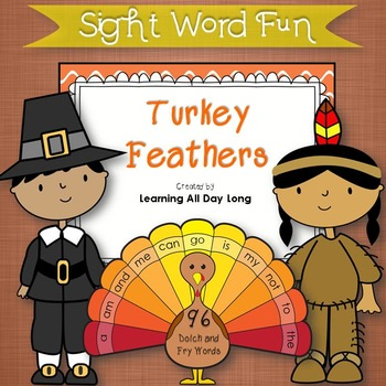 Sight Word Game: Turkey Feathers