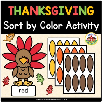 Thanksgiving Sort by Color Activity for Preschool