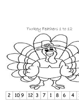 Turkey Feathers-Counting to 12
