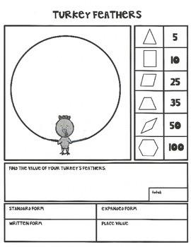 Turkey Feathers Math Project
