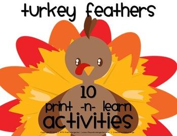 Turkey Feathers [Math Pack]