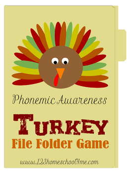 Turkey File Folder Game - Thanksgiving Fun for Kindergarten