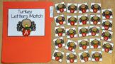 Turkey File Folder Game: Turkey Letters Match