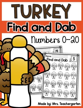 Turkey Find and Dab (Numbers 0-20)