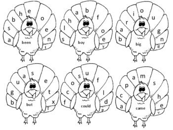 Turkey First Grade Sight Words Color By Letter