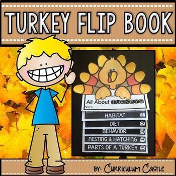 Turkeys Flip Book {Reading Comprehension & Craft}