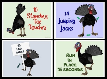 Turkey Flock Fitness- Activity Plan and Turkey Exercise Task Cards