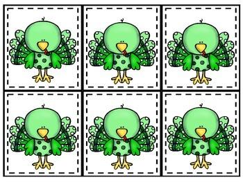 Thanksgiving Turkey Flocking (Grouping) Cards