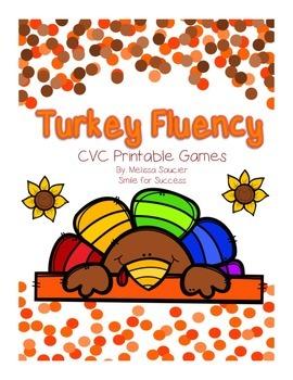 Turkey Fluency { Short Vowel Games}
