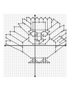 Turkey Four Quadrant Coordinate Graph - No decimals