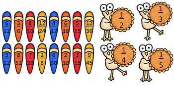 Turkey Fractions {A Thanksgiving Unit about Fractions, Decimals, & Percents}