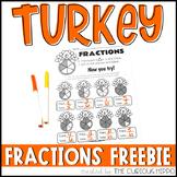 Turkey Fractions for Kids FREEBIE!