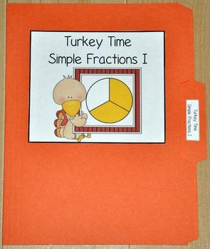 Turkey Fractions File Folder Game