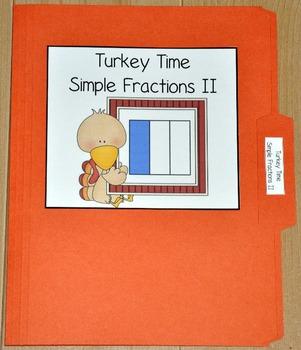 Turkey Fractions File Folder Game II
