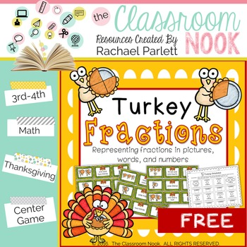 Turkey Fractions - Representing Fractions in Pictures, Wor
