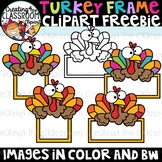 Turkey Frame Clipart Freebie {Free Clipart}