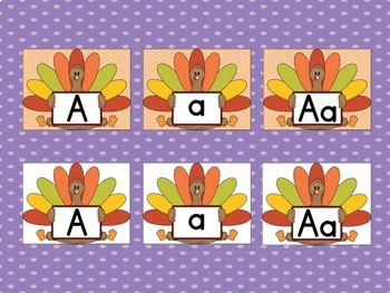 Turkey Full Page Alphabet Letter Posters / Word Wall Headers