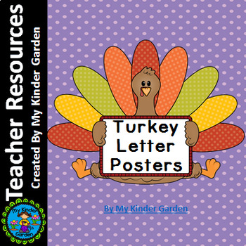 Turkey Full Page Alphabet Letter Posters Uppercase and Lowercase