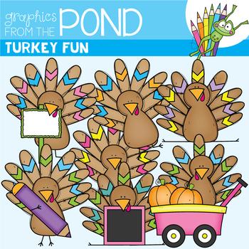 Turkey Fun Clipart Set