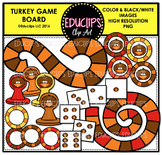 Turkey Game Board Clip Art Bundle  {Educlips Clipart}