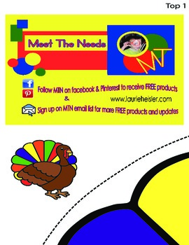 Turkey Game-Pin the feather to the turkey (JUMBO SIZE)