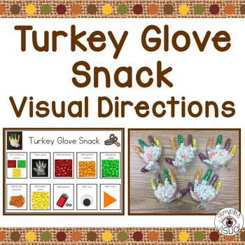 Simple Snack Activity with Visual Directions Thanksgiving FREEBIE