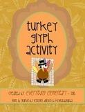 Turkey Glyph Activity (Thanksgiving Math & Language Arts Poetry)