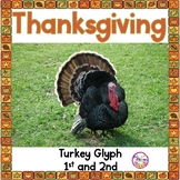 Turkey Glyph, Thanksgiving Math and Reading Glyph, 1st and