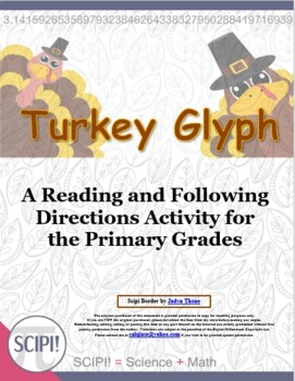 Turkey Glyph with Questions - Gathering Data and Following Directions