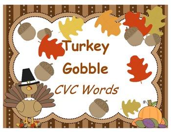 Turkey Gobble -  CVC Words