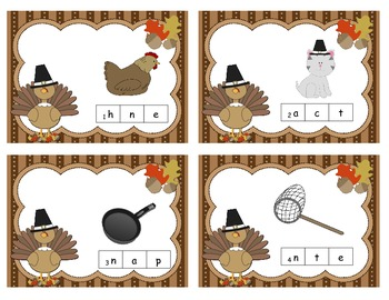 Turkey Gobble -  CVC Words