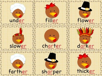 Thanksgiving Games & Activities BOSSY R / R CONTROLLED VOWELS