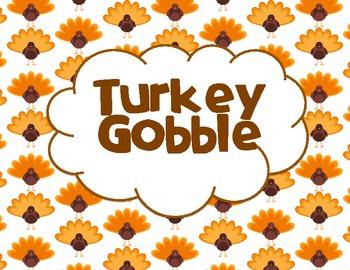 Turkey Gobble Multiplication Center (Common Core Aligned)