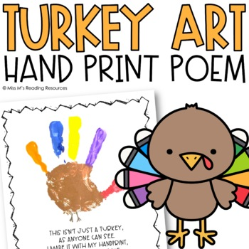 Turkey Hand Print Poem Art Project