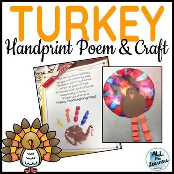 Turkey Handprint Poem & Craft