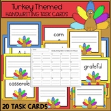 Turkey Handwriting Task Cards {THANKSGIVING SCOOT}