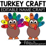 Turkey Hat Thanksgiving Name Craft