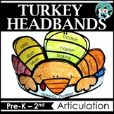 Turkey Hats / Headbands for Speech Therapy