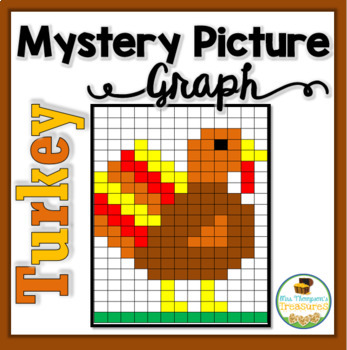 mystery picture graph turkey thanksgiving math by mrs thompson 39 s treasures. Black Bedroom Furniture Sets. Home Design Ideas