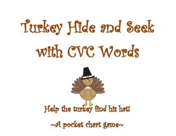 Turkey Hide and Seek: A CVC Pocket Chart Game