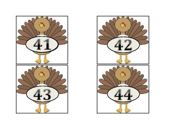Turkey Hide and Seek: A Number Pocket Chart Game