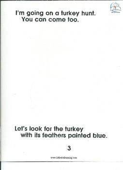 Color Word Game - Turkey Hunt