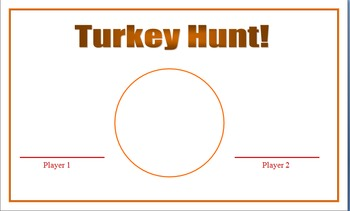 Turkey Hunt Game - Greater than, less than or equal to