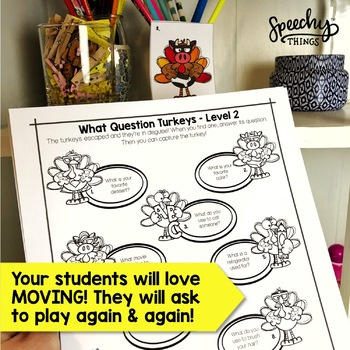 Turkey Hunt - Low Prep Thanksgiving Speech and Language Activities