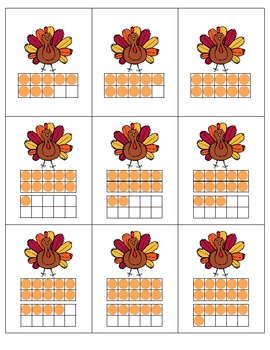 Turkey Hunt!  Matching Numbers 1-20