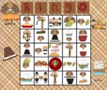 Turkey Hunting: Thanksgiving Preposition Bingo