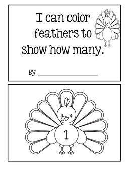 Turkey - I Can Color Feathers To Show How Many!